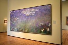 Chef d'oeuvre renversant, les nénuphars de Monet, Cleveland Art Museum, Ohio, 2016 photos libres de droits