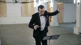 Chef d'orchestre d'orchestre classique, orchestre symphonique, directeur musical clips vidéos