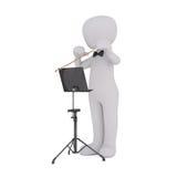 Chef d'orchestre d'orchestre de bande dessinée Holding Baton au stand Photos stock