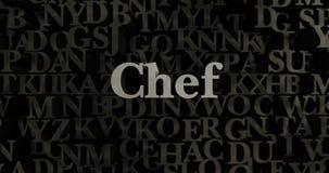 Chef - 3D rendered metallic typeset headline illustration Stock Images