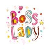 Chef- dame vector illustratie