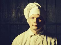 Chef dans l'uniforme blanc photos stock