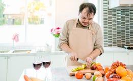 Chef dans la cuisine Photo stock
