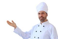 Chef dans la toque blanche photo stock