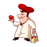 Chef de bande dessinée, cuisinier Images libres de droits