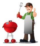 Chef de BBQ illustration de vecteur