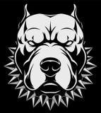 Chef de chien fâché illustration de vecteur