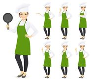 Chef de femme illustration stock