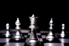 Chef de file des affaires Concept Jeu de société d'échecs Photo stock