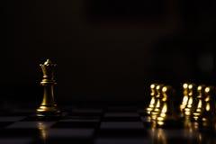 Chef de file des affaires Concept Jeu de société d'échecs Photos libres de droits