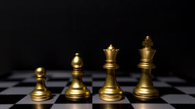 Chef de file des affaires Concept Jeu de société d'échecs Image stock