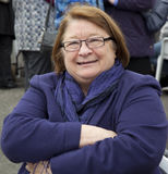 Chef de la célébrité TV - Rosemary Shrager Photo libre de droits