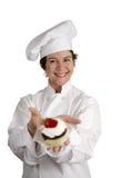 Chef de pâtisserie gai photo libre de droits
