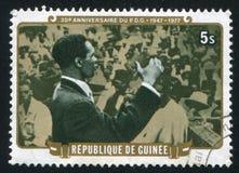 Chef de Parti démocrate de la Guinée Images stock