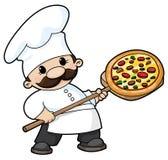 Chef de pizza Illustration Libre de Droits