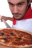 Chef de pizza Images libres de droits