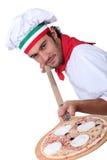 Chef de pizza photographie stock