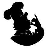 Chef de silhouette - illustration Photos stock