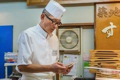 Chef de sushi japonais Photo libre de droits