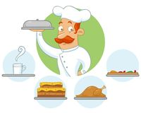 Chef delivering an order Stock Photography