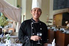 Chef an der Gaststätte Stockbild