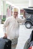 Chef der Hotelpagen oder Hausmeister Lizenzfreie Stockbilder