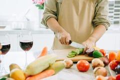 Chef in der Küche Stockbild
