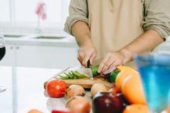 Chef in der Küche Stockfotos