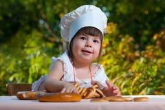 Chef des kleinen Mädchens Lizenzfreies Stockfoto
