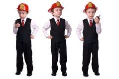 Chef des pompiers de garçon Image libre de droits