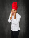 Chef desperation. Person emotions and expressions portrait Royalty Free Stock Photo