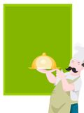 Chef with dish Stock Photography