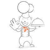 Chef with the dish Royalty Free Stock Photo
