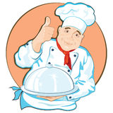 Chef with a dish. Stock Image