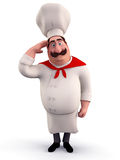 Chef doing salute Stock Images