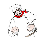 Chef draw Stock Images