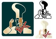 Chef du Logo Fotografía de archivo libre de regalías