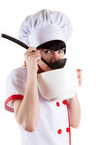 Chef eating Royalty Free Stock Photos