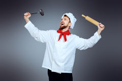 Chef ecstasy Royalty Free Stock Images