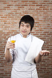 Chef and egg Royalty Free Stock Photos