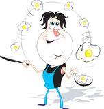 Chef and eggs Royalty Free Stock Images