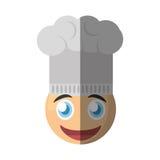 chef emoticon cartoon design Royalty Free Stock Photography