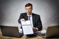 Chef entlassen jemand Lizenzfreie Stockfotografie