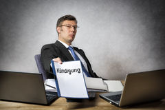 Chef entlassen jemand Lizenzfreies Stockfoto