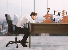 Chef errichtet ein Geschäftsteam Stockbilder