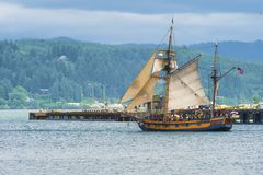Chef et baie hawaïens de Yaquina image stock