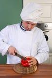 Chef et poivre Photos stock