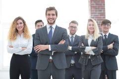 Chef et une équipe professionnelle d'affaires Images stock