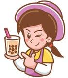 Chef féminin de bande dessinée illustration libre de droits