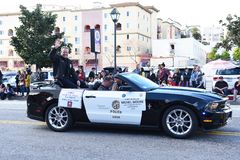 Chef för LAPD Michel Moore Chinese New Year Parade arkivbilder